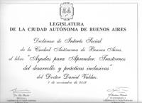 Diploma legislatura